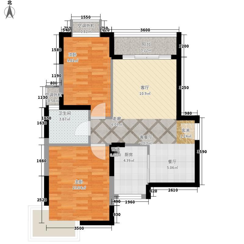 通和佳苑42.00㎡通和佳苑2室户型2室