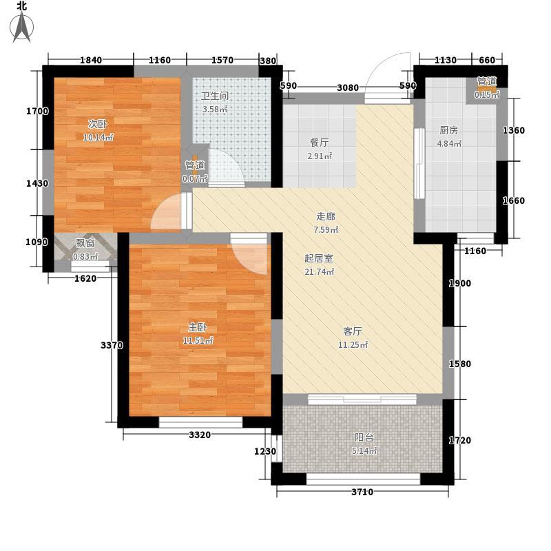 融科瀚棠(河东)高层4号楼标准层D户型
