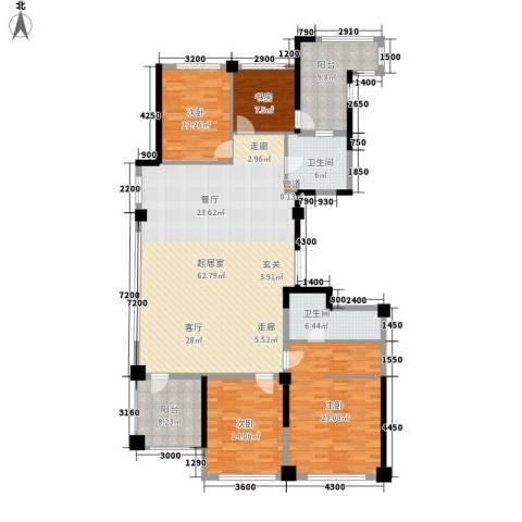 安大磬苑4室0厅2卫0厨208.00㎡户型图