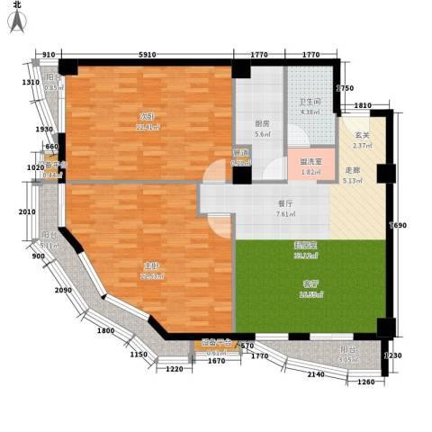 航天星苑2室0厅1卫1厨136.00㎡户型图