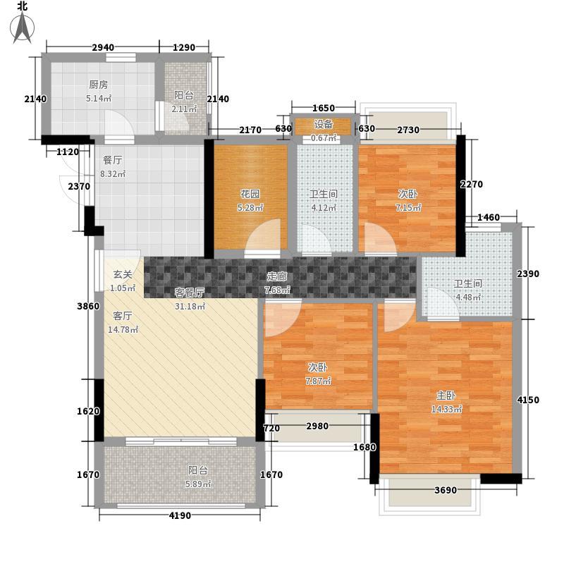 加州花园(万江)45.00㎡加州花园(万江)3室户型3室