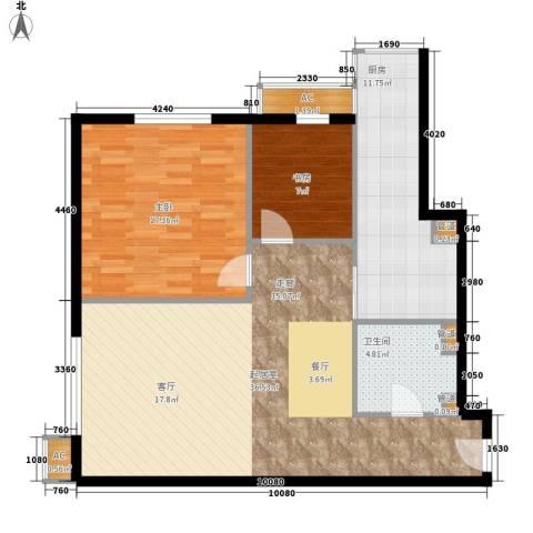 仙都绿苑2室0厅1卫1厨88.45㎡户型图