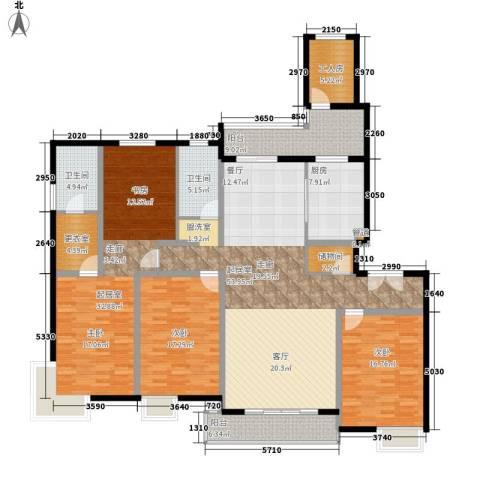 中邦风雅颂2室0厅2卫1厨188.00㎡户型图