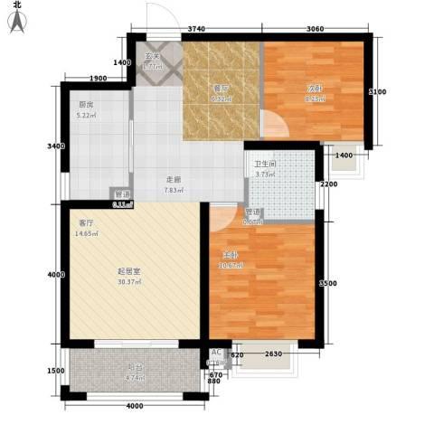 曲江圣卡纳2室0厅1卫1厨90.00㎡户型图