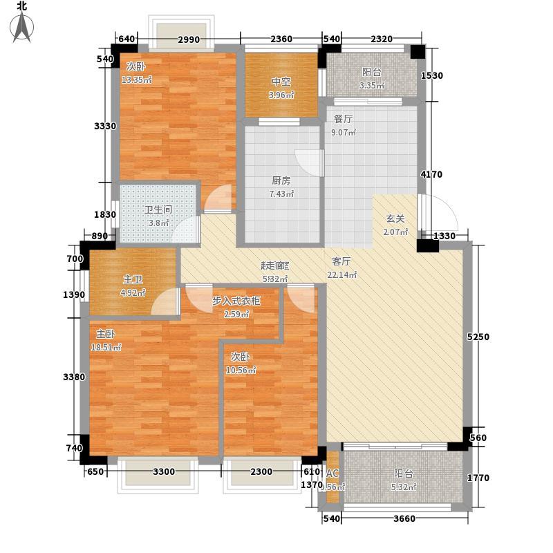 艺邦・山水城128.00㎡二期H、M户型3室2厅2卫1厨