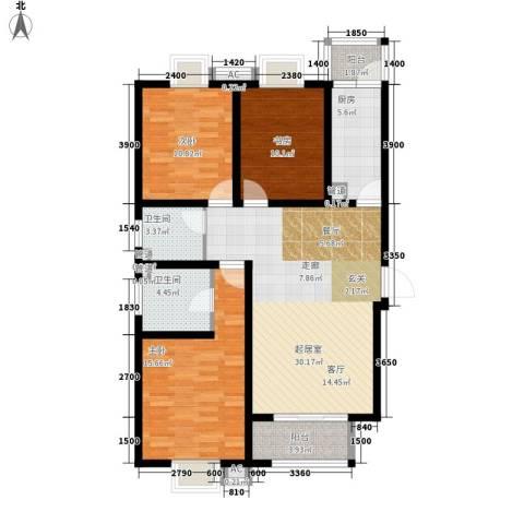 曲江圣卡纳3室0厅2卫1厨122.00㎡户型图