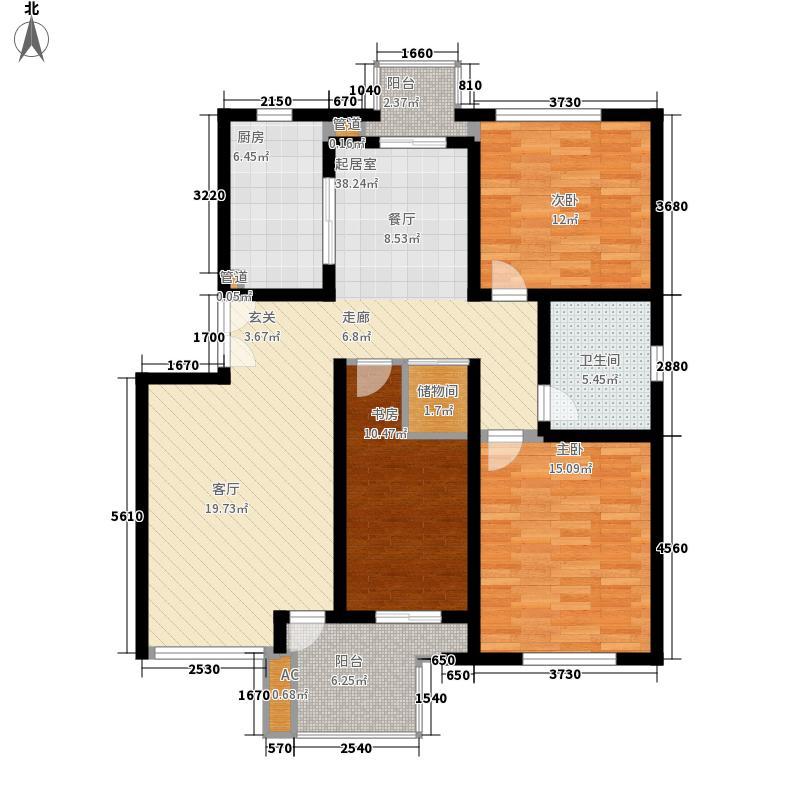 万科白马花园114.79㎡万科白马花园户型图3室2厅1卫1厨户型10室