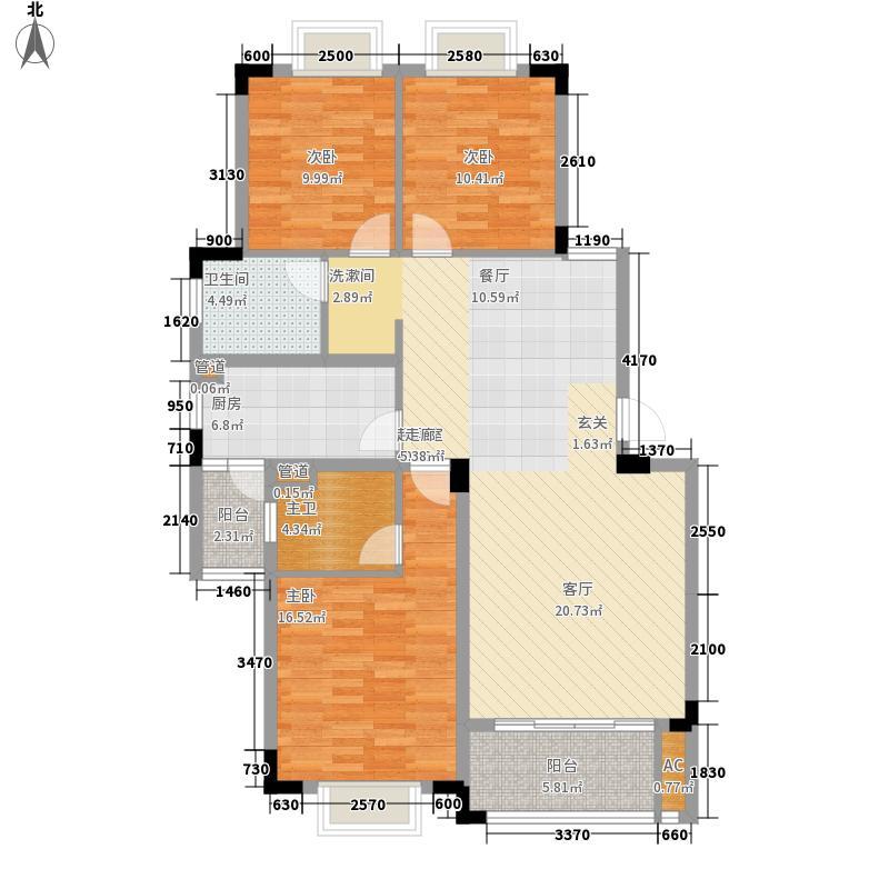 艺邦・山水城125.50㎡二期N户型3室2厅2卫