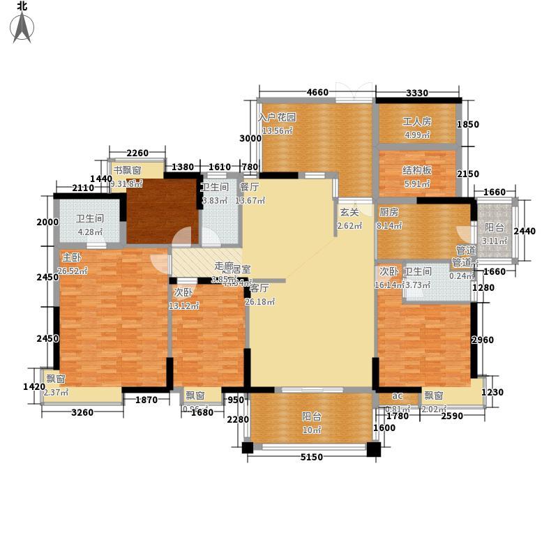 上林苑175.00㎡上林苑户型图22栋2座04单位5室2厅3卫1厨户型5室2厅3卫1厨