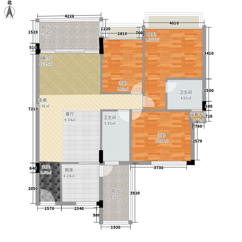 新世界花园御景台新世界花园御景台3室2厅2卫户型3室2厅2卫
