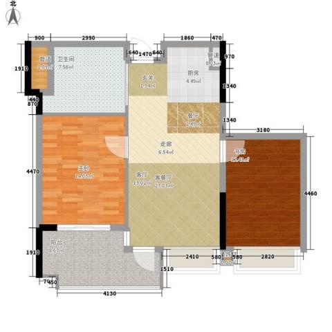 雅居乐城南源著2室1厅1卫0厨83.00㎡户型图