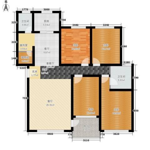 碧海红湖4室1厅2卫1厨235.00㎡户型图