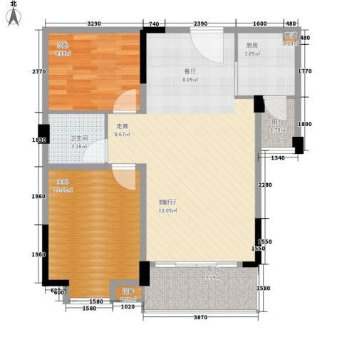 庄士新都二期2室1厅1卫1厨73.00㎡户型图