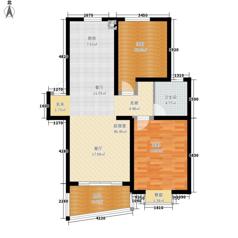 卫庄小区93.00㎡卫庄小区2室户型2室