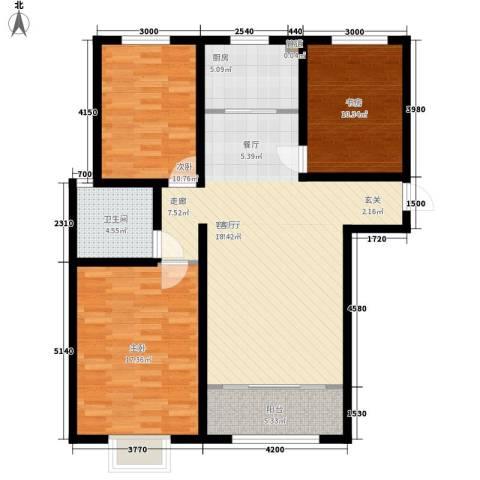 阜丰康桥郡3室1厅1卫1厨115.00㎡户型图