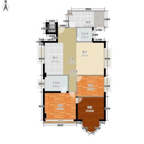 金成翠榕苑3室0厅2卫1厨140.00㎡户型图