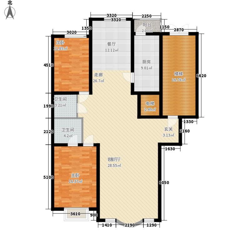 皇城东苑二期143.40㎡皇城东苑二期户型图3室2厅2卫户型10室