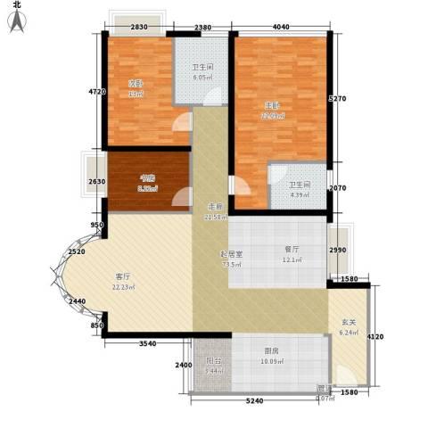 金成翠榕苑3室0厅2卫0厨139.00㎡户型图