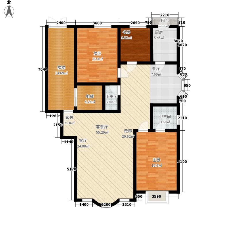 皇城东苑二期151.23㎡皇城东苑二期户型图3室2厅2卫户型10室