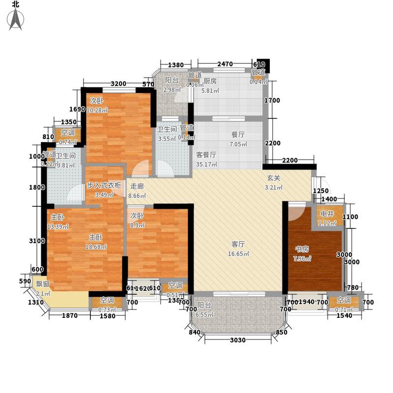 宜昌碧桂园136.00㎡洋房J622AB户型4室2厅2卫