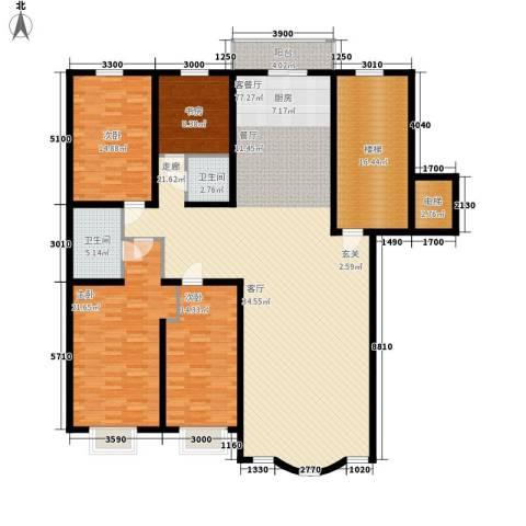 皇城东苑二期4室1厅2卫0厨188.00㎡户型图