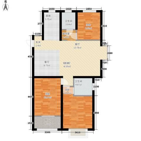阜丰康桥郡3室1厅2卫0厨114.00㎡户型图