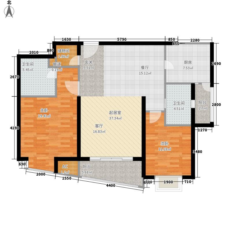 莱诗邸102.29㎡上海莱诗邸户型10室