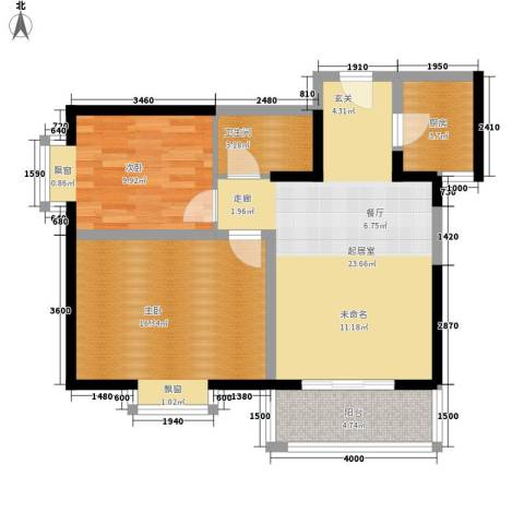 天赐苑2室0厅1卫1厨85.00㎡户型图