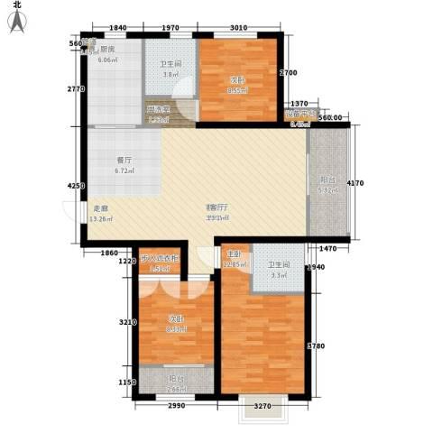 阜丰康桥郡3室1厅2卫1厨116.00㎡户型图