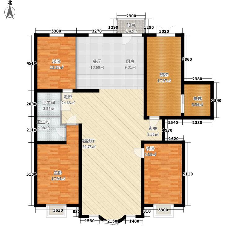 皇城东苑二期172.17㎡皇城东苑二期户型图3室2厅2卫户型10室