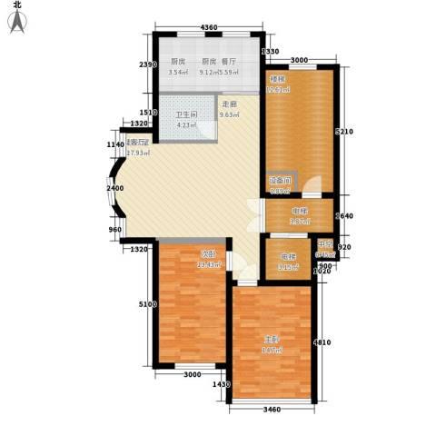 皇城东苑二期2室0厅1卫1厨108.00㎡户型图