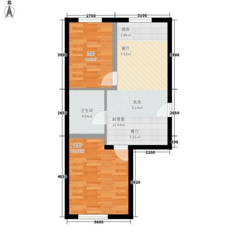 金碧家园2室0厅1卫0厨70.00㎡户型图
