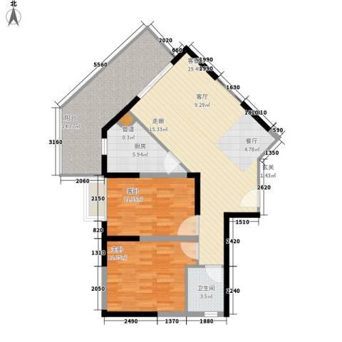 钢琴家 珠海2室1厅1卫1厨109.00㎡户型图