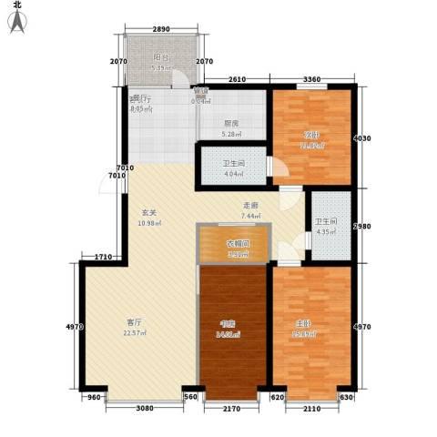 青阳四季园3室1厅2卫1厨129.00㎡户型图