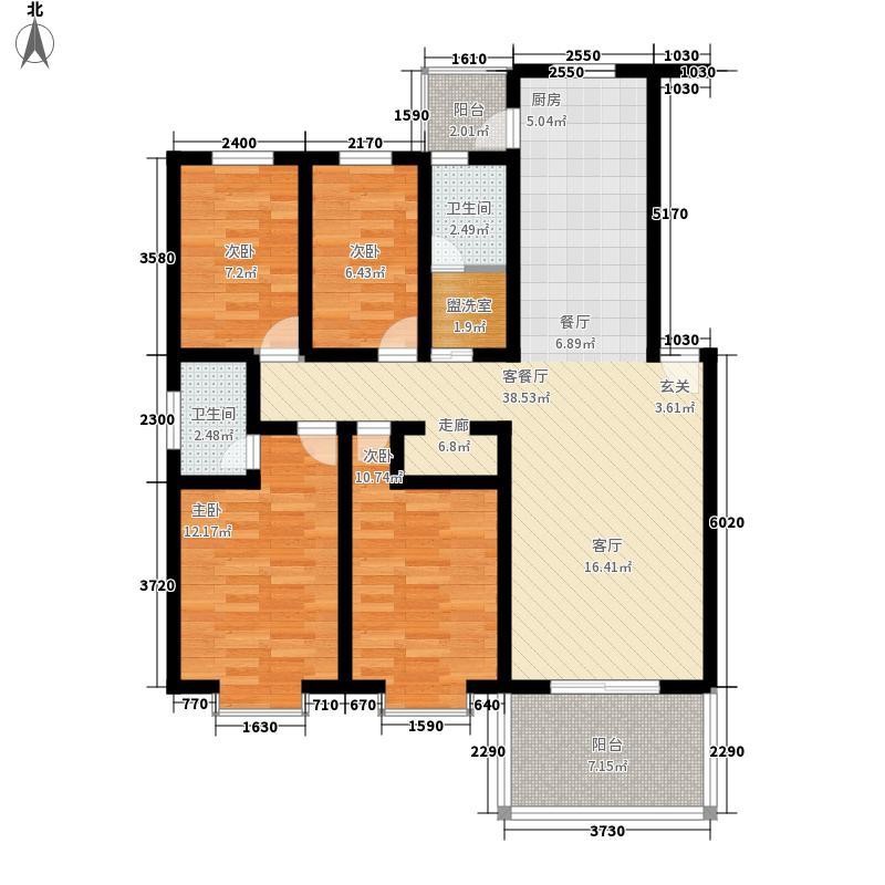 168号院159.00㎡面积15900m户型