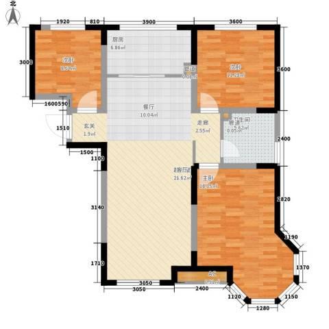 枫叶山庄3室0厅1卫1厨123.00㎡户型图