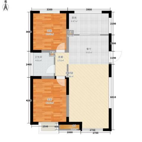 枫叶山庄2室0厅1卫1厨95.00㎡户型图