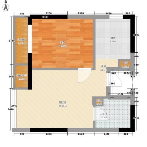 LOHAS上院-7号公寓1室0厅1卫0厨59.00㎡户型图