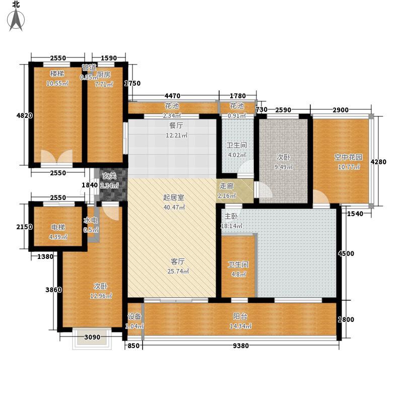 卓越玫瑰园137.00㎡卓越玫瑰园高层F/P户型3室2厅2卫1厨137.00㎡户型3室2厅2卫1厨