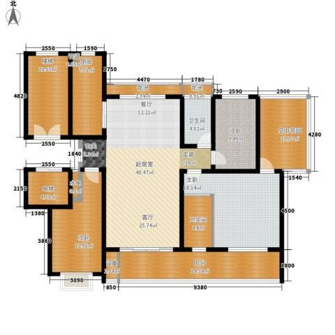 卓越玫瑰园3室0厅2卫1厨142.49㎡户型图