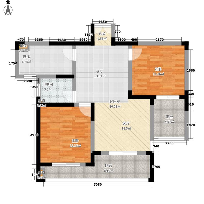 恒生阳光城85.00㎡恒生阳光城户型图一期2室2厅1卫1厨户型2室2厅1卫1厨