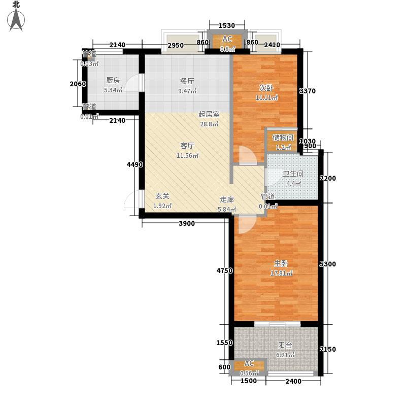 万和新城广场103.36㎡万和新城广场A3两室两厅一厨一卫103.36㎡户型10室