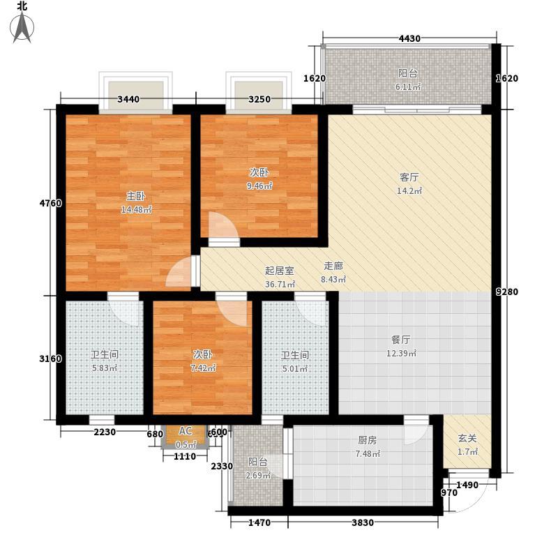明阳家在回廊110.40㎡明阳家在回廊户型图户型图3室2厅2卫1厨户型3室2厅2卫1厨