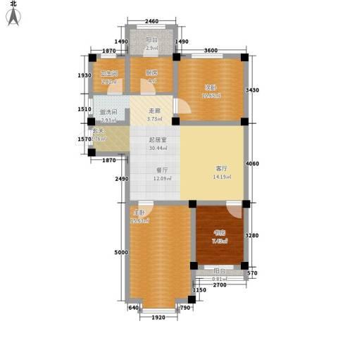 实华・新兴佳园3室0厅1卫1厨108.00㎡户型图