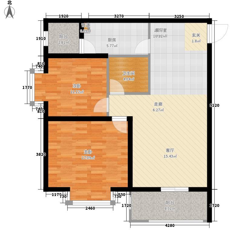 灞业・大境88.00㎡灞业・大境户型图3号楼D户型2室2厅1卫1厨户型2室2厅1卫1厨