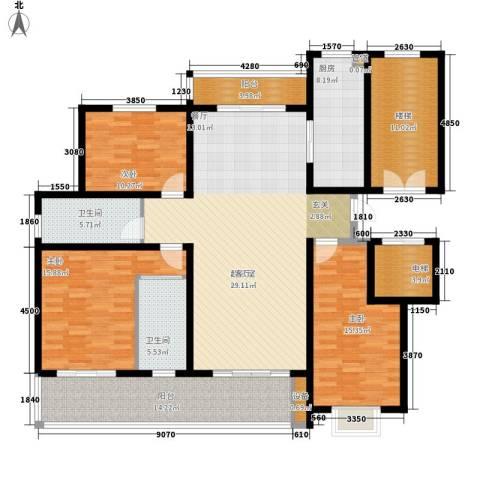 卓越玫瑰园3室0厅2卫1厨144.00㎡户型图