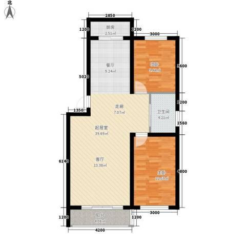 铁路南区2室0厅1卫1厨103.00㎡户型图