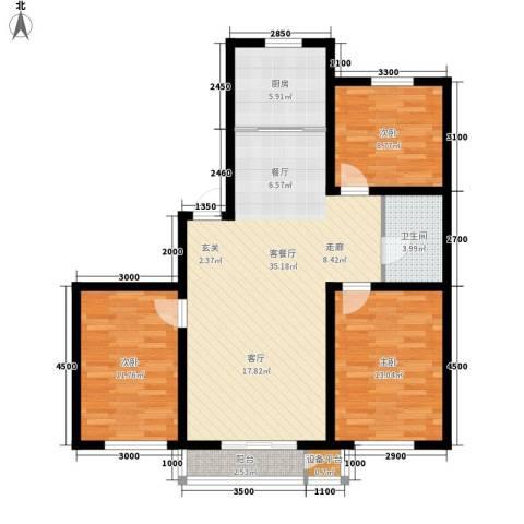 青阳四季园3室1厅1卫1厨117.00㎡户型图