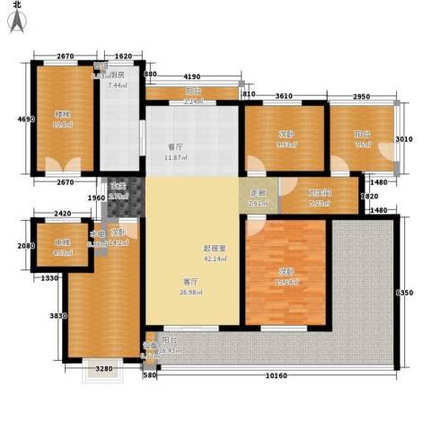 卓越玫瑰园3室0厅1卫1厨145.63㎡户型图