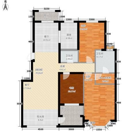 中房凌云花园3室0厅2卫1厨135.31㎡户型图